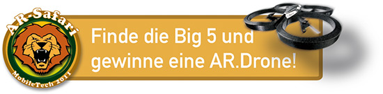 AR-Safari - Finde die Big 5 und gewinne eine AR.Drone!