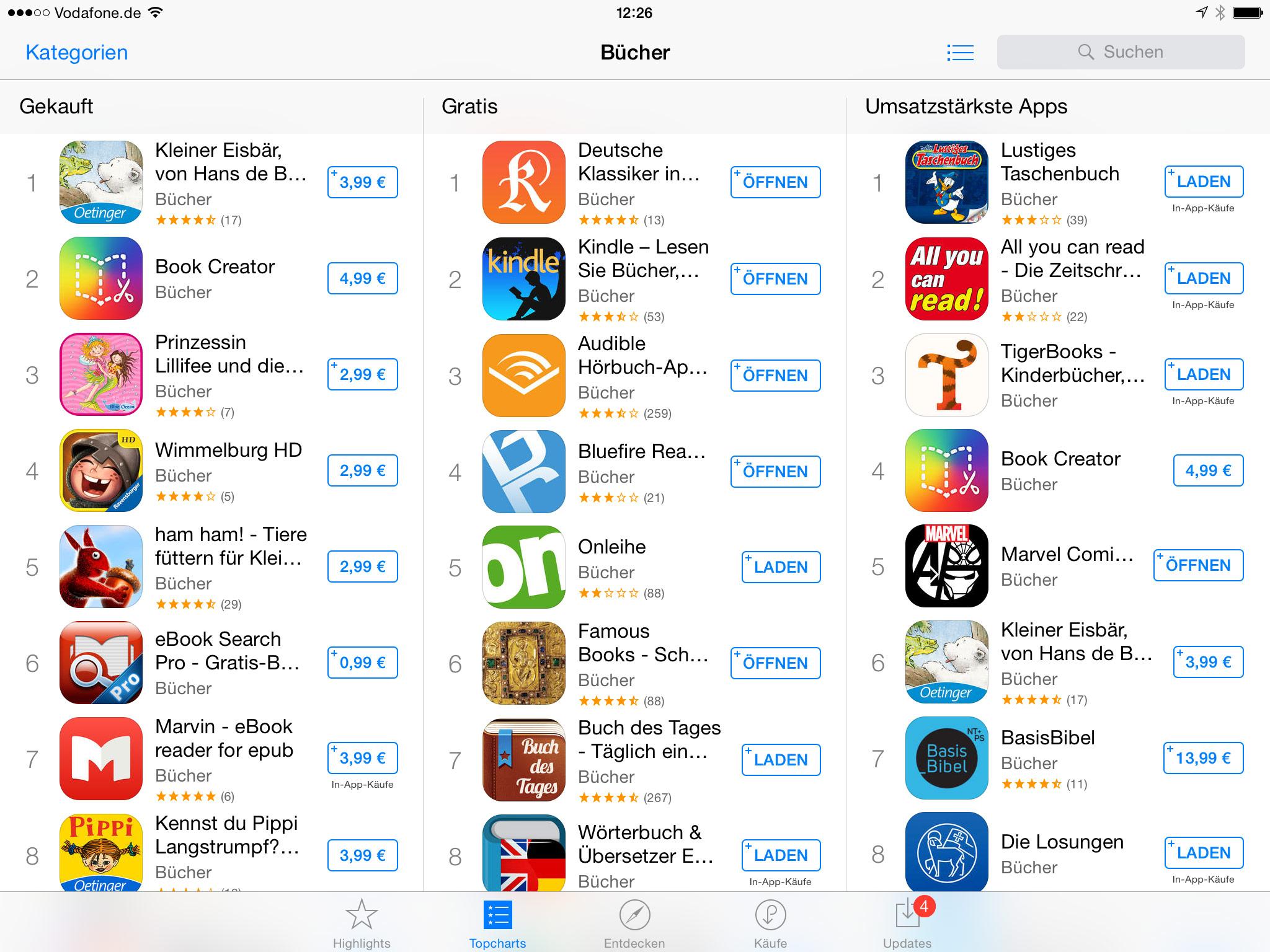 einige apps lassen sich nicht öffnen