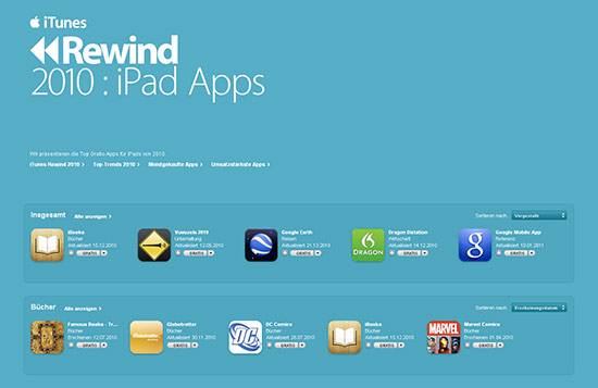 iTunes Rewind 2010: iPad Apps